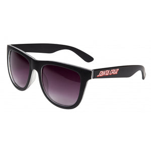 Santa Cruz Adult Sunglasses - Check Strip - Black - SCA-SUN-0149