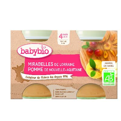 Ppot Mirabelle Pomme 2X130G Babybio