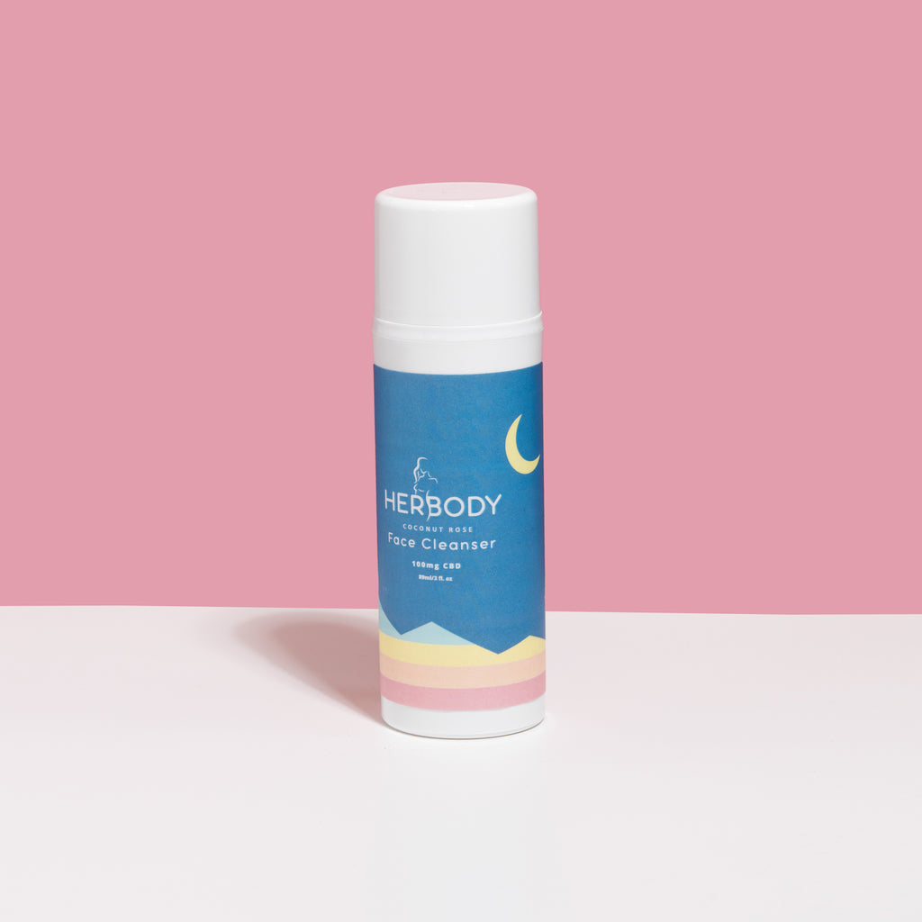 Coconut Rose CBD Face Cleanser