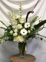 Ivory and white large sympathy arrangement