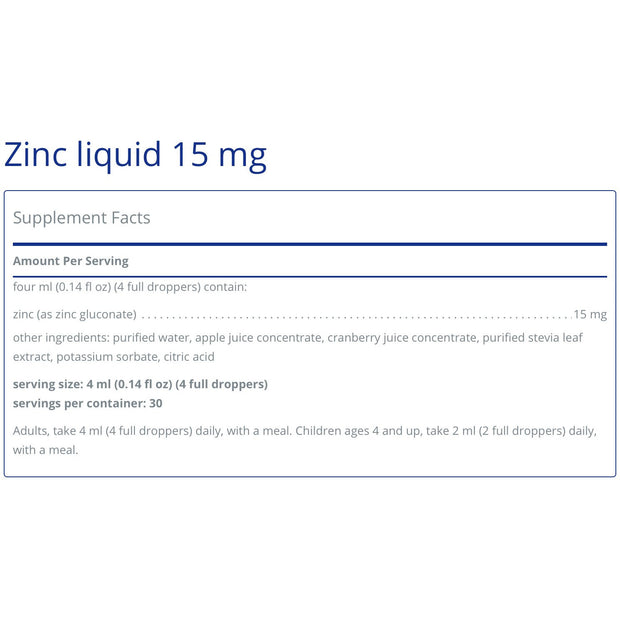 Zinc Liquid 15mg (120ml)