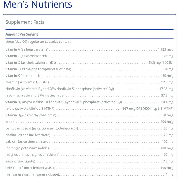 Men's Nutrients
