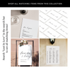 Lost In Love White Ink Invitation