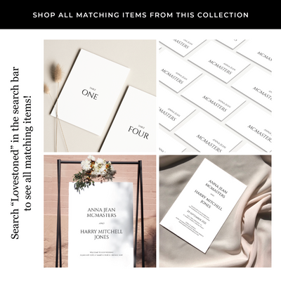 Lovestoned Printed Invitations Package