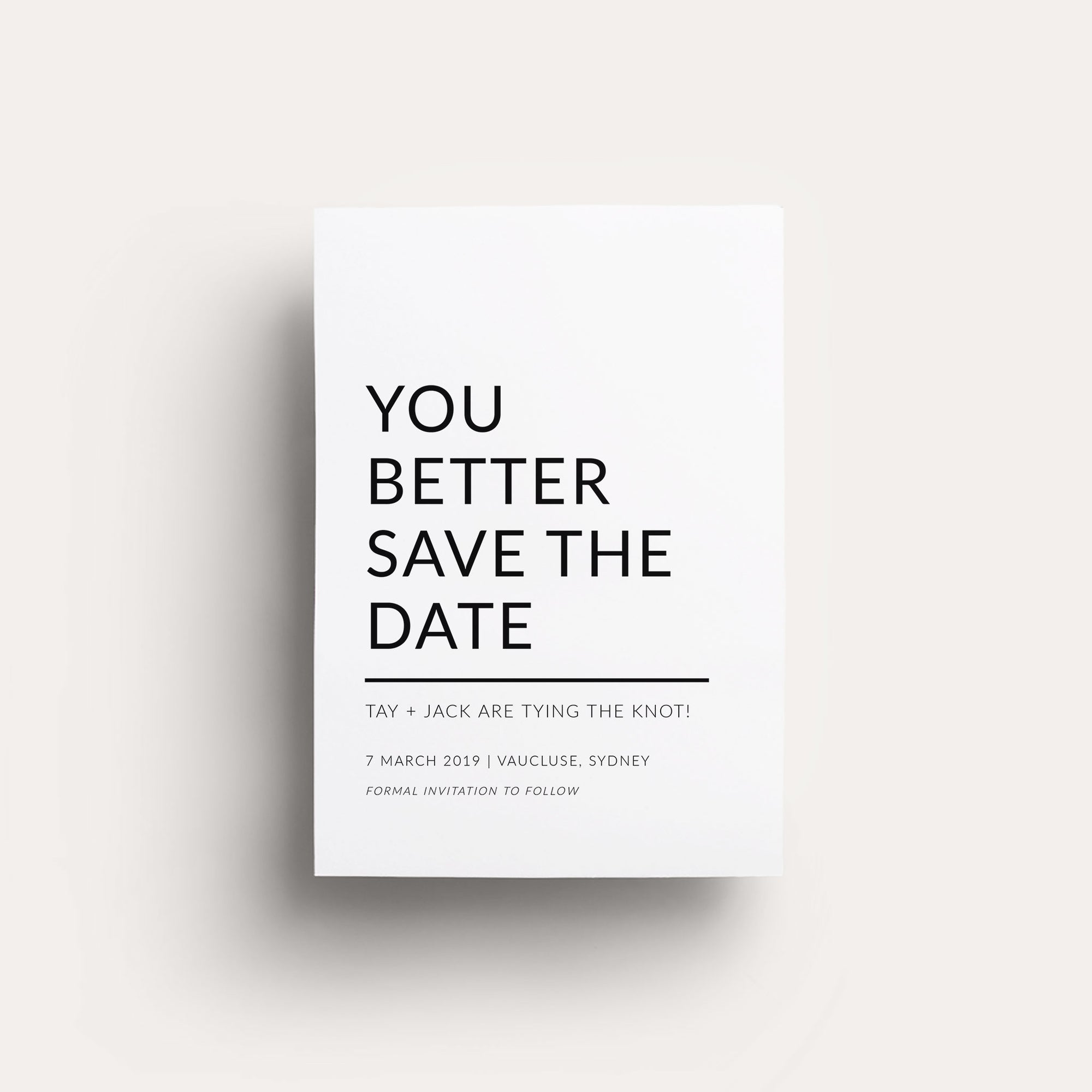 Digital Modern Love Save The Date