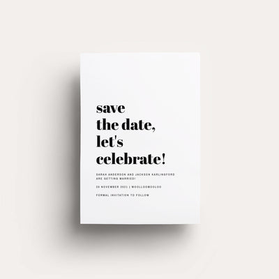 Digital Confetti Save The Date