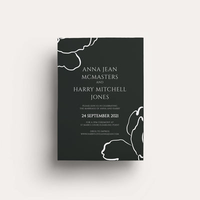 Digital Lovestoned Floral Invitation