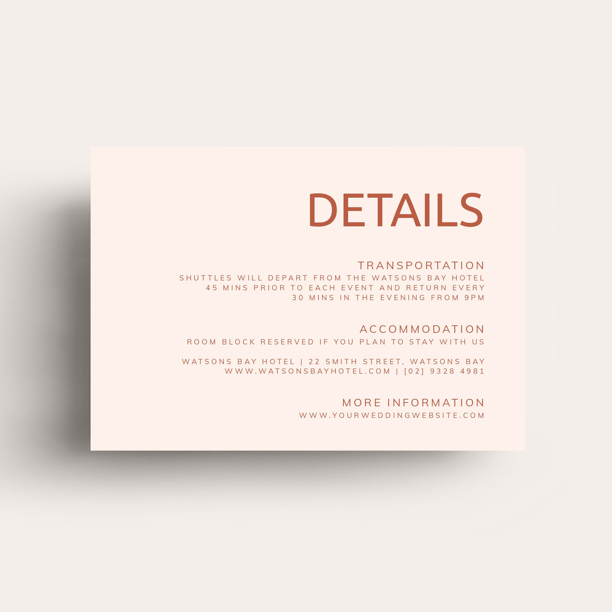 Always You Details Card