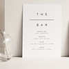 Digital Simple Love Drinks Bar Sign