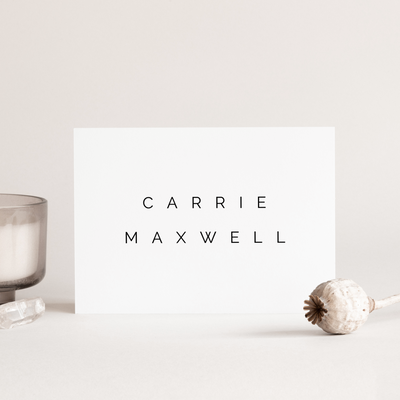 Digital Simple Love Place Cards