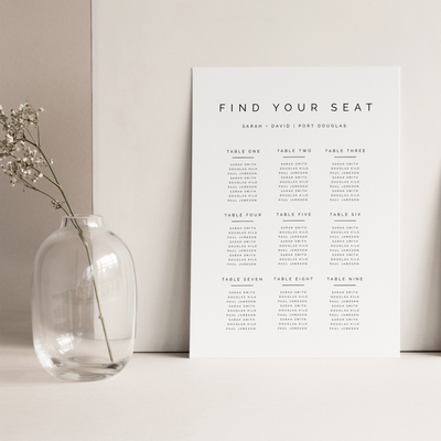 Digital Simple Love Seating Chart Sign