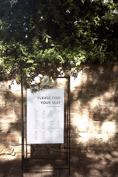 Digital Always You Seating Chart Sign