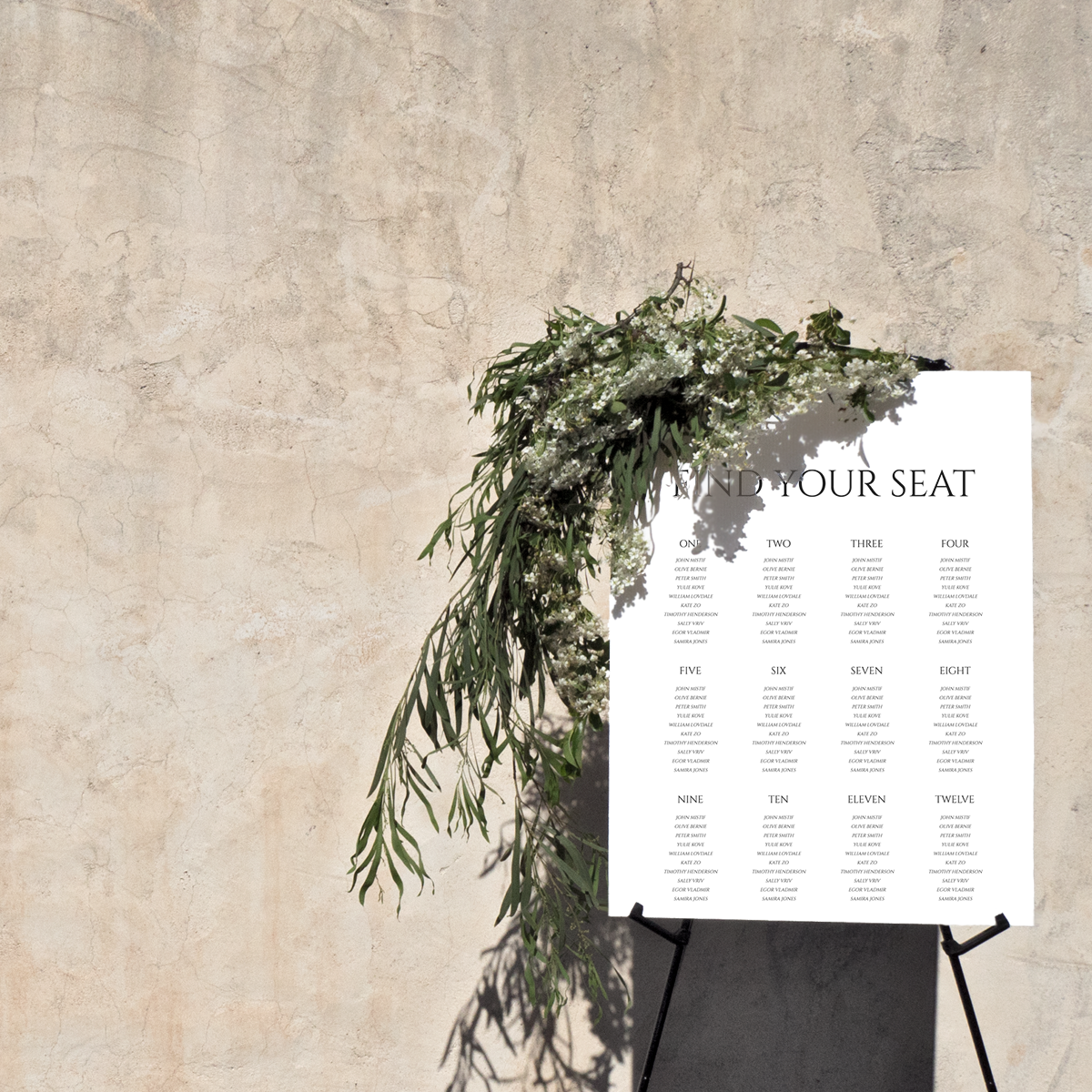 Lovestoned Seating Chart Sign