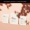 Modern Love Digital Invitation Stationery Package