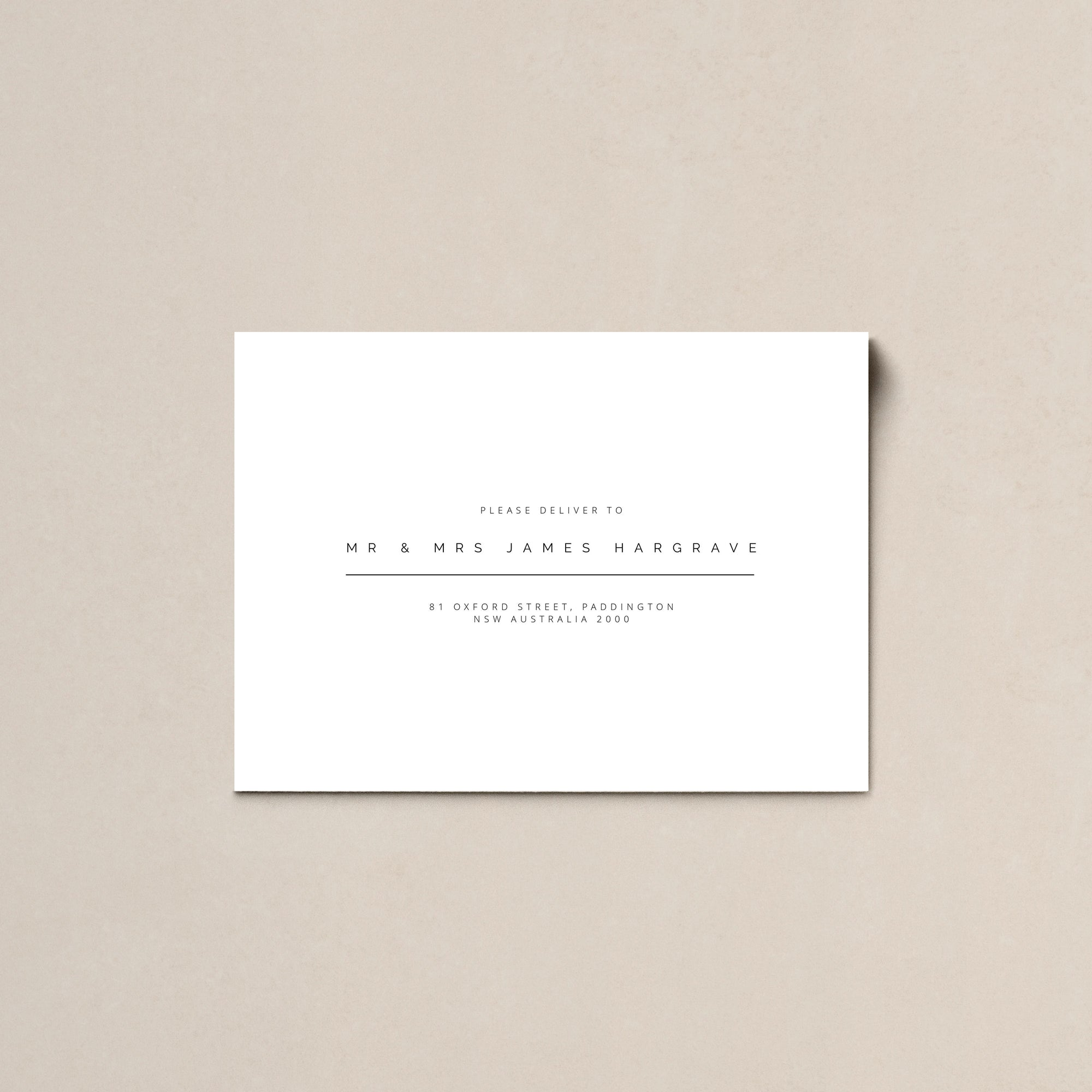 Simple Love Printed Envelopes