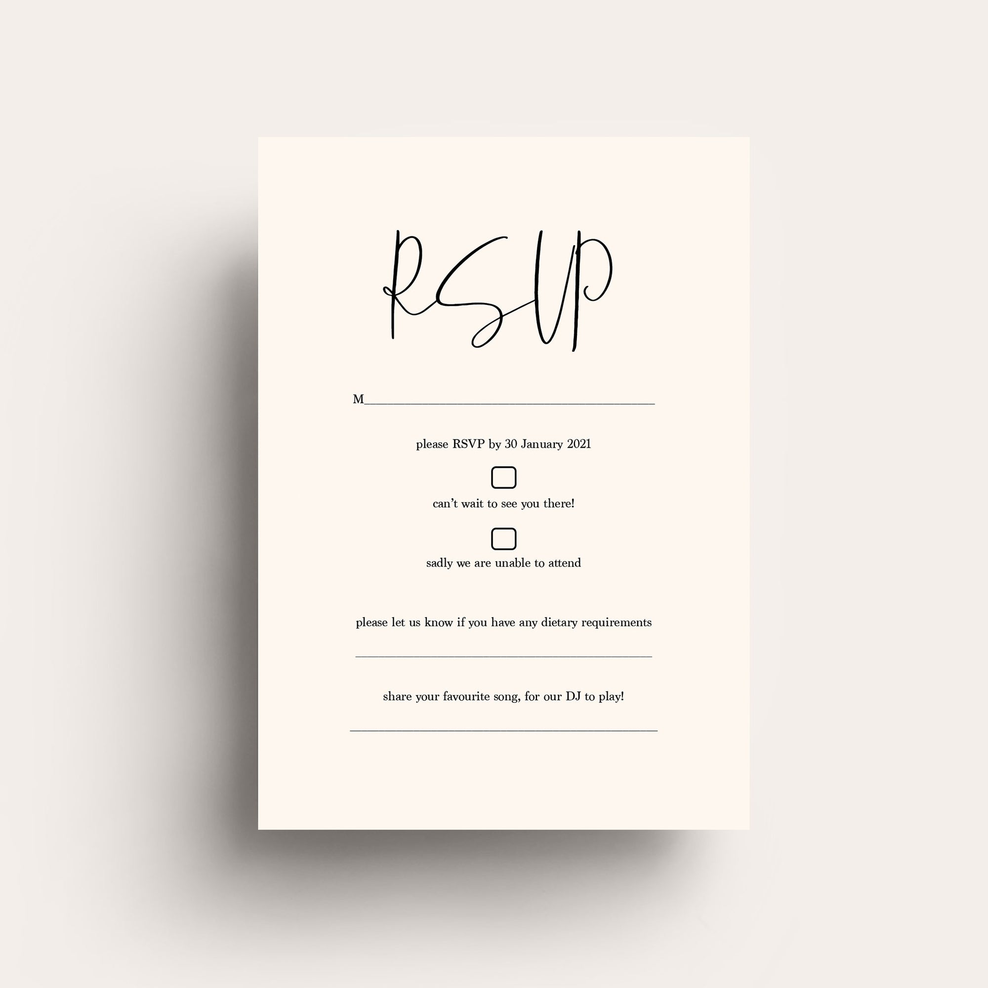 Forever Loved RSVP Card