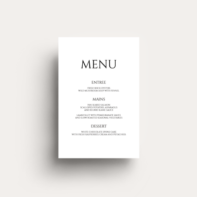 Lovestoned Menu