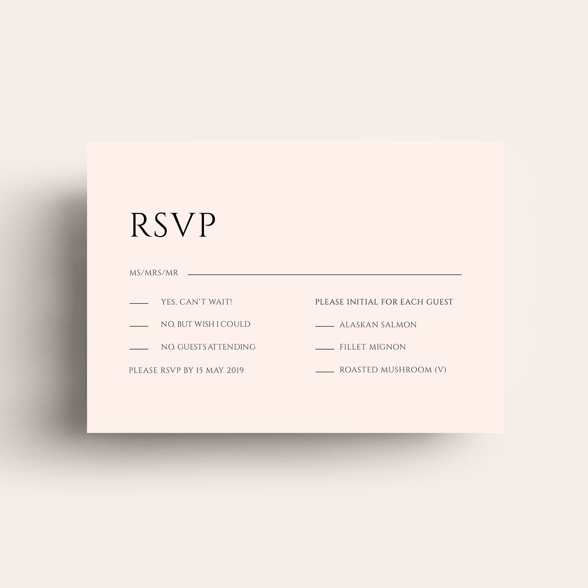 Lovestoned RSVP Card