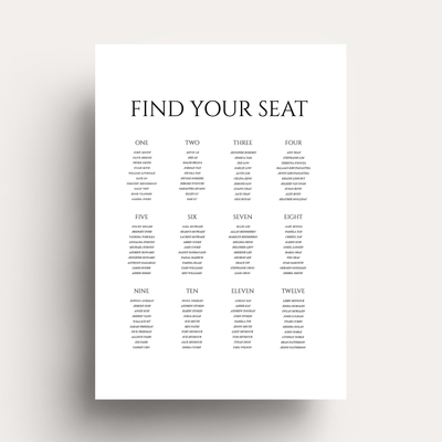 Digital Lovestoned Seating Chart Sign