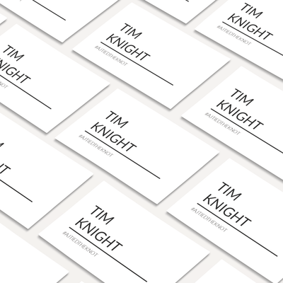 Digital Modern Love  Place Cards