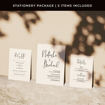 Forever Loved Printed Invitations Package
