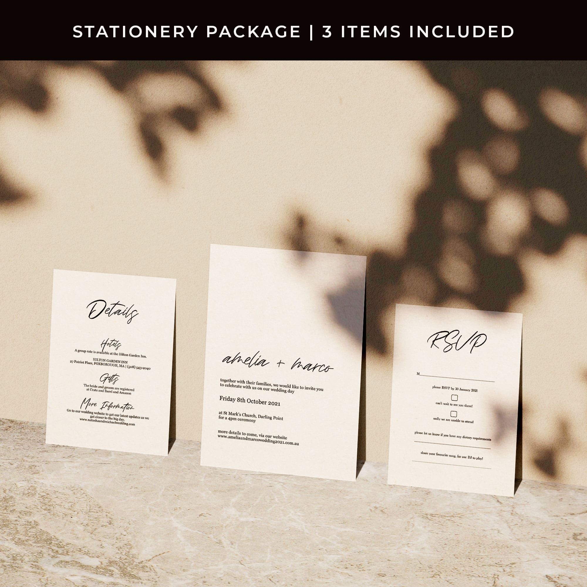 Lost In Love Printed Invitations Package