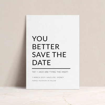 Modern Love Save The Date