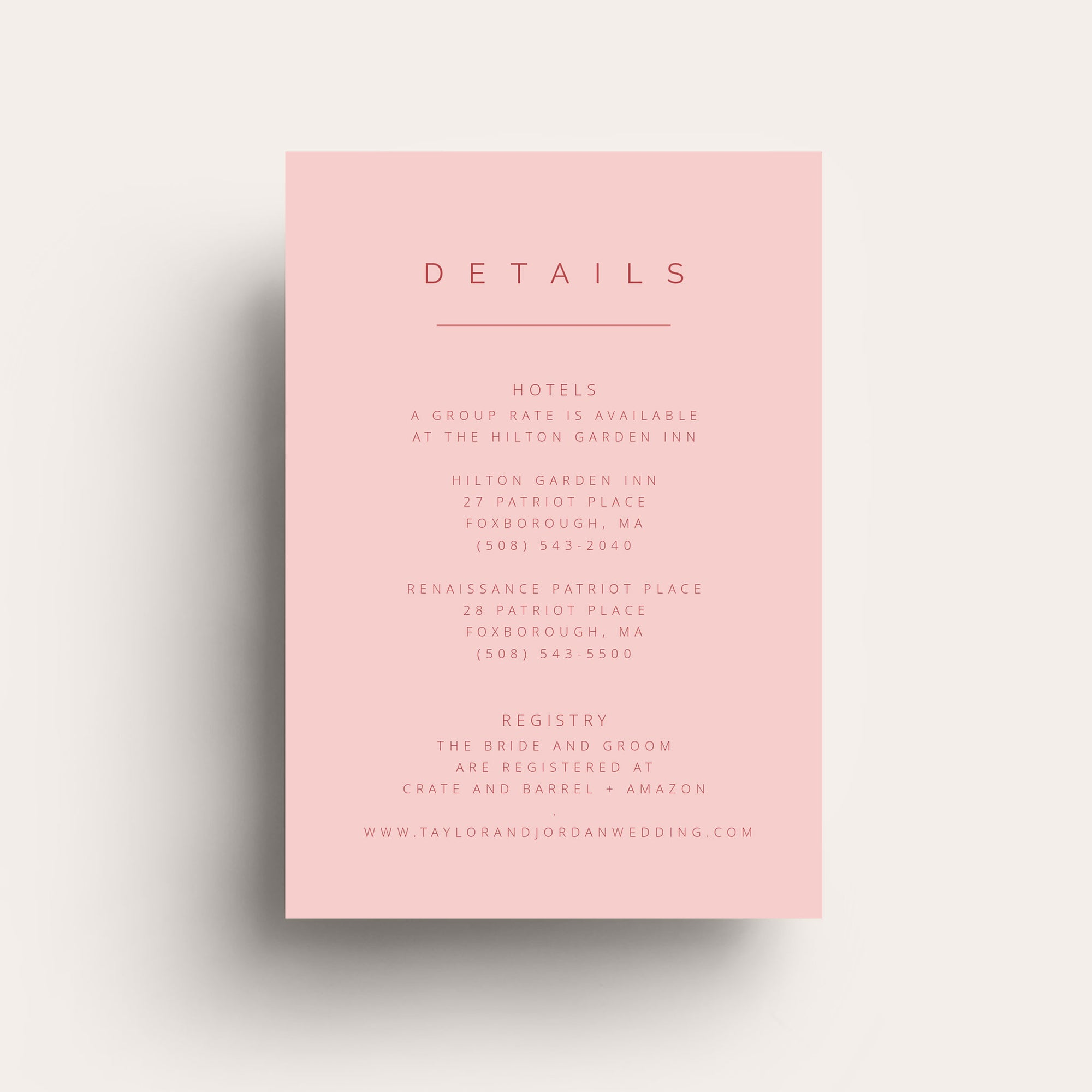 Simple Love Details Card