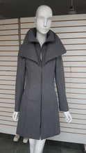 Load image into Gallery viewer, Long Double Collar Zippered Wool Coat - with Free Shipping!