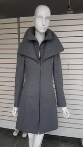 Long Double Collar Zippered Wool Coat - with Free Shipping!