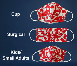 Non-Medical Reusable Fabric Face Mask Canadian Flag Filter pocket