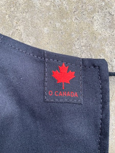 Maple Leaf Patch on All Black Reversible Non-Medical Face Mask