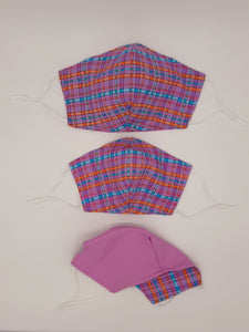 Pastel Collection  Reversible for versatility.  Two Looks in one Mask! Fashionable Face Covers that are functional, comfortable + Beautiful.  Pastel Collection Face Covers are Reversible, prints on one side and solid pastel color on other side.  Versatile, two looks in one mask! Or goal is to design the Best Non-Medical Face Masks that achieve a balance of Function, Comfort and Usability that also looks great!   If you have to wear a mask, wear one you LOVE!