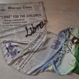 Le Journal Libre Scarf (Washed Blue)
