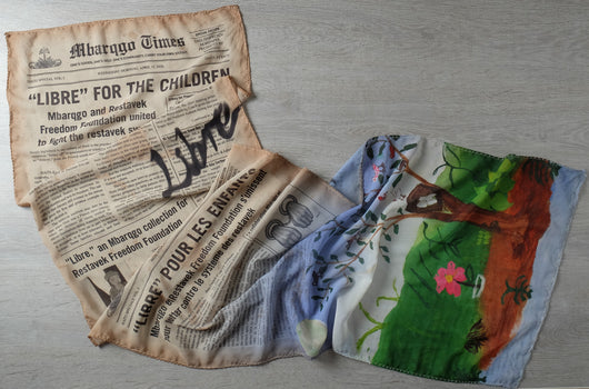 Le Journal Libre Scarf  (Sepia)
