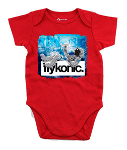Flykonic Astronaut Onesie on Red