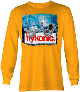 Flykonic Astronaut Long Sleeve on Yellow