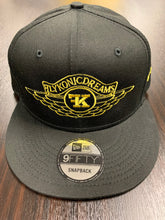 Load image into Gallery viewer, Flykonic Dreams SnapBack Hat with Yellow Stitching