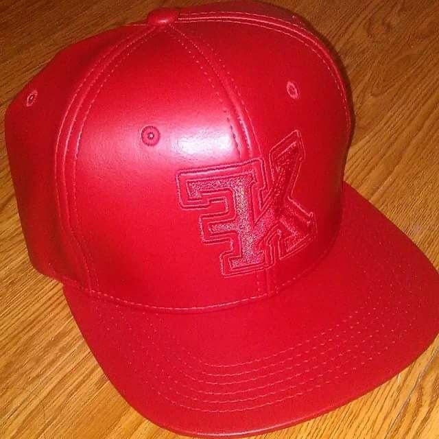 "Flykonic ""FK"" Hat - Red on Red"