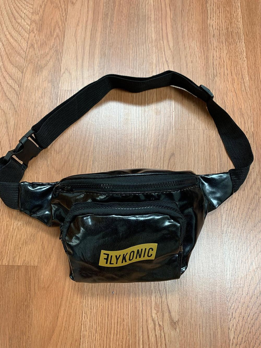 Flykonic Fanny Pack - Black with Gold Print
