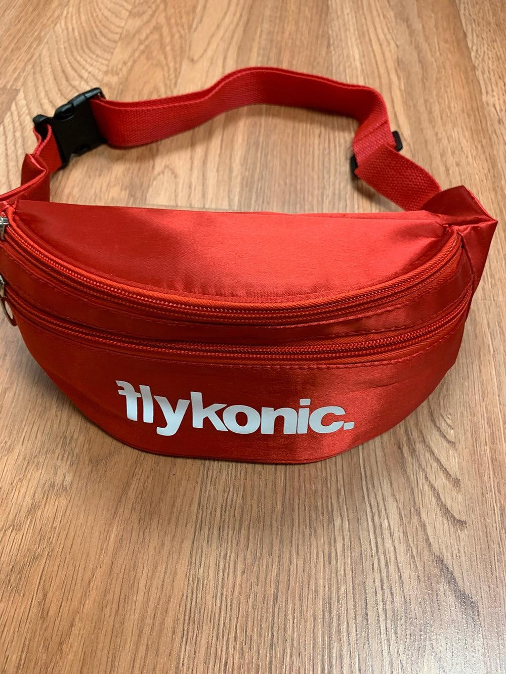 Flykonic Fanny Pack in Red with white logo