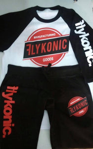Flykonic Goods Red and Black Short Set