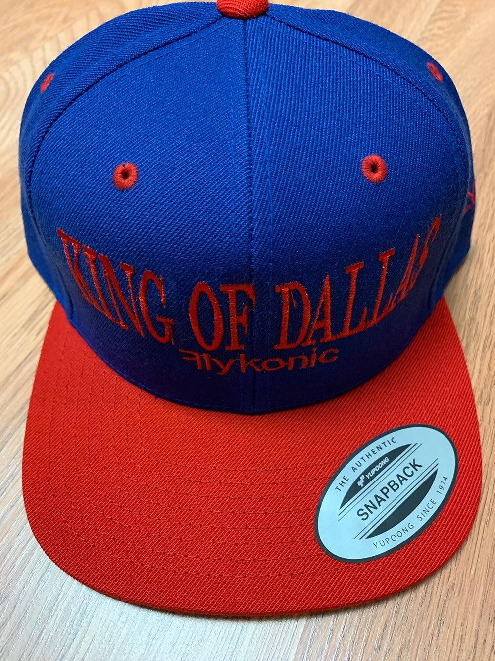 Flykonic King Of Dallas Snapback in Blue and Red