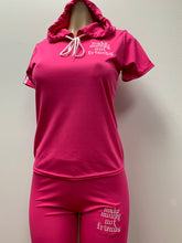 Load image into Gallery viewer, Flykonic Ladies Fitness Pink Hoodie Outfit