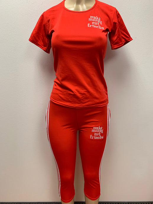 Flykonic Ladies Red Fitness Outfit