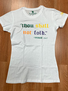 "Flykonic Ladies ""Thou Shall Not Fold - Mood"" Tee"