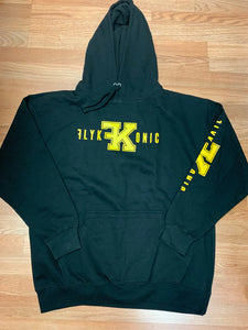 Flykonic Logo Hoodie - Yellow on Black