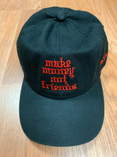 Load image into Gallery viewer, Flykonic Make Money Not Friends Red on Black Dad Hat
