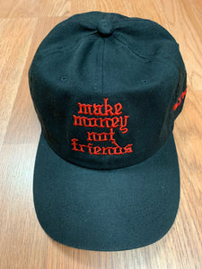 Flykonic Make Money Not Friends Red on Black Dad Hat