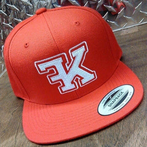 Flykonic Red SnapBack with FK logo embroidery